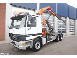 containersysteem vrachtwagen Mercedes Benz Actros 2640 6x4 Palfinger 14 ton/meter laadkraan 2000