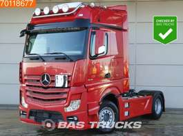 gevaarlijke stoffen trekker Mercedes Benz Actros 1845 LS 4X2 ACC Retarder Standklima ADR 2x Tanks Euro 6 2014