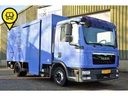 bakwagen vrachtwagen MAN TGL 7.150 GESLOTEN BAK INWENDIG L500 B220 H185 2011