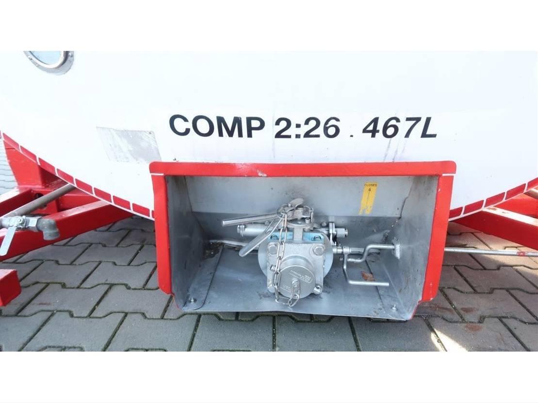 tankcontainer Van Hool 33.966L / 2-comp (26.467L+7.499L), L4BN, IMO-4, valid 5y insp.: 04/2022 2000