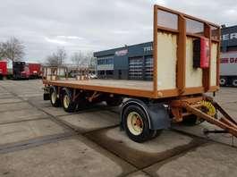 platte aanhanger vrachtwagen Samro 3 as bladgeveerd