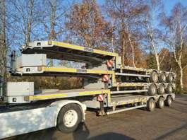 dieplader oplegger Goldhofer 3x Dieplader  12m ideaal voor kraanauto / ballast  6900kg 2010