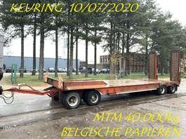 dieplader oplegger Gheysen en Verpoort 40 Tons DIEPLADER - 4 ASSER - RAMPEN - BLADVERING - BELGISCHE PAPIEREN /... 1999