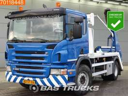 containersysteem vrachtwagen Scania P380 4X2 Skiploader Portaal Absetzkipper Euro 5 2012