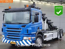 containersysteem vrachtwagen Scania P420 6X2 Liftachse  EEV 2012