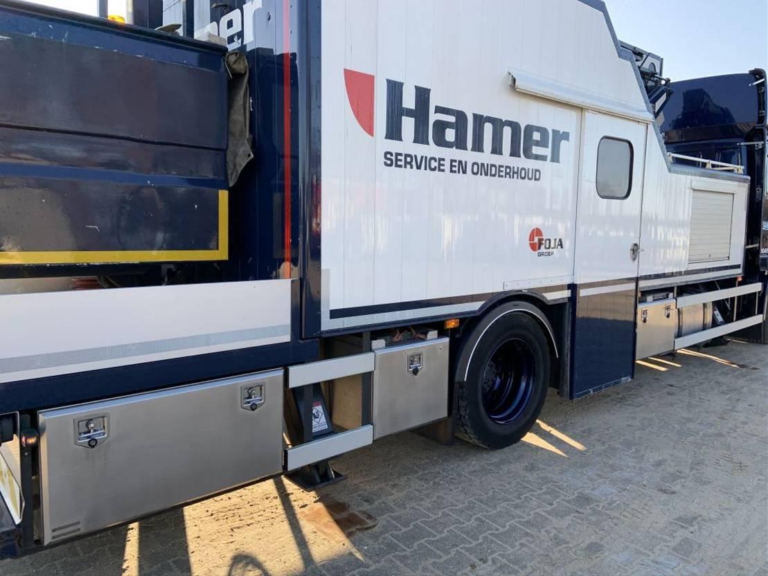 autohoogwerker vrachtwagen DAF CF 65 FA CF 65 250 PK met Custer 22m hoogwerker en werkplaats 2013