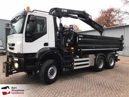 kipper vrachtwagen > 7.5 t Iveco AD380T41W EEV 6x6 kipper met Hiab kraan 2012 2012