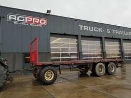 platte aanhanger vrachtwagen Contar 3 as bladgeveerd