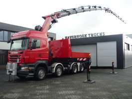 kraanwagen Scania R500 V8 8x4 Tractor PK 85002F Jib PJ 170  Retarder 2010