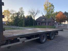 platte aanhanger vrachtwagen Uima 2 assige middenas 1999