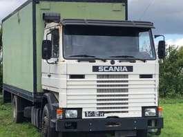 bakwagen vrachtwagen Scania 142 BLADGEVEERD 1984