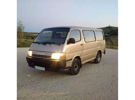 taxibus Toyota Hiace H15 2.4 D 9 seats left hand drive. 1992