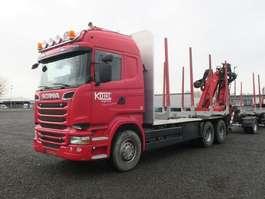 houttransporter vrachtwagen Scania R520 6x4 Highline Palfinger Epsilon MT12 Holzzug 2014