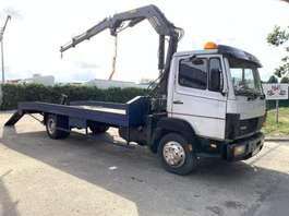 autotransporter vrachtwagen Mercedes Benz 1114 ECOLINER + TICO CRANE - STEEL SPRING SUSPENSION / SUSP. LAMES / BAL... 1990