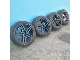 "velg auto onderdeel Mercedes Benz AMG 18"" with brand new 255/45/18 tyres. 2012"
