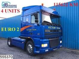 standaard trekker DAF 95 XF 480 EURO 2, Originale KM, Manual, Airco, 4 UNITS, Analoge tachograaf 2001