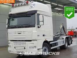 containersysteem vrachtwagen DAF XF105.460 6X2 AJK Hooklift Belgian-Registration Intarder Euro 5 2014