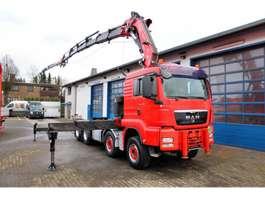 platform vrachtwagen MAN TGS 35.440 8x4+ Fassi F800 BXP.26 Kran mit JIB 2008