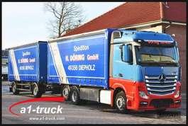 schuifzeil vrachtwagen Mercedes Benz 2548 Actros, KOMPLETTZUG, Retarder, durchladbar 2012