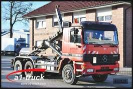 containersysteem vrachtwagen Mercedes Benz 3343 Allrad 6x6 Blatt/Blatt, Meiller 19.60S Abrolkipper 1999