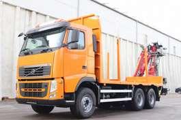 houttransporter vrachtwagen Volvo FH13.460 NEU Kran PENZ12Z9.50 TÜV Leasing 2011