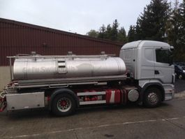 tankwagen vrachtwagen Scania R420 CITERNE EN INOX 3 COMPARTIMENTS 9500 L 2008
