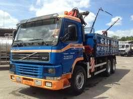 kipper vrachtwagen Volvo FM7 6X4 WITH PALFINGER PK14080+REMOTE CONTROL 2001