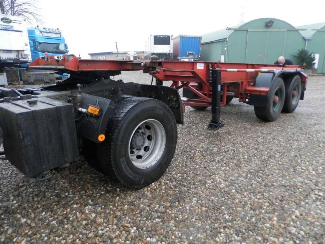 container chassis oplegger Diversen Netam-Fruehauf 2-assige oplegger 1989
