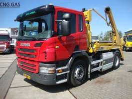 containersysteem vrachtwagen Scania 310 hyva PORTAAL LIFT14 ton CNG aardgas 2012