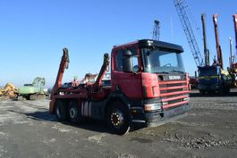 wissellaadbaksysteem vrachtwagen Scania 124 G 420 /Gergen Abroller/6x2 /Zwillingsbereift 2003