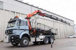 kipper vrachtwagen Mercedes Benz SK2544 6x4 4x4 Kran PK21000 Retarder Blatt V8 1995