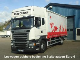 schuifzeil vrachtwagen Scania R410 Leswagen 6 Zitplaatsen Dubbel bediening EURO 6 Schuifzeilen + o.v.klep 2018