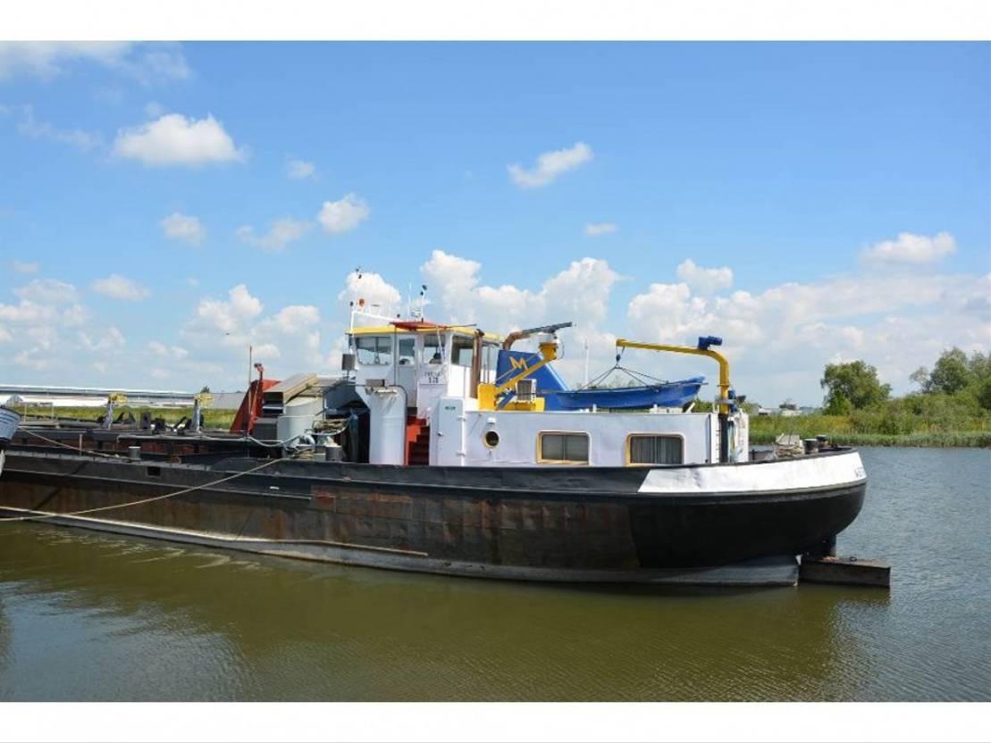 vrachtschip Barge Hopper Dredger TSHD Altena 1965