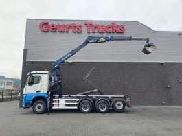containersysteem vrachtwagen Mercedes Benz AROCS 3645 8X4 TRIDEM HAAKARMSYSTEEM + KRAAN/KRAN/CRANE/GRUA 2015
