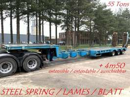 dieplader oplegger CASTERA 3-AXLES LOW BED / PORTE CHAR / TIEFBETT - 55 TONS - EXTENDABLE /... 1976