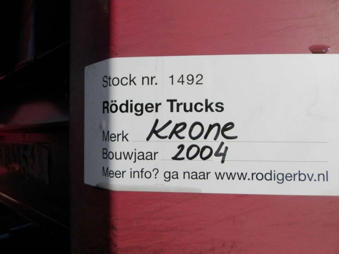 schuifzeil oplegger Krone 3-assige oplegger 2004