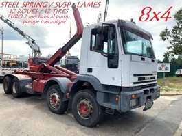 containersysteem vrachtwagen Iveco EUROTRAKKER 410E37 - 8x4 - 12 TIRES / 12 ROUES - MANUAL ZF - BIG AXLES /... 1998