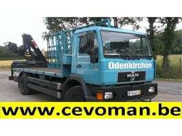 kraanwagen MAN 18.264 Plateau + Autolaadkraan HIAB 1997