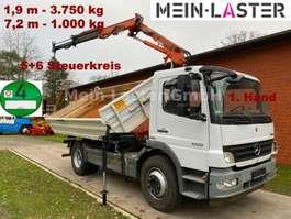 kipper vrachtwagen Mercedes Benz 1222  Meiller Atlas 75.2- 7,2 m 1.000kg 5+6
