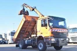 kipper vrachtwagen Mercedes Benz Actros 1832AK Kipper/Kran Hiab/Winterdienst/Funk 2007