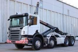 wissellaadbaksysteem vrachtwagen Scania P420 8x4 Manuell Retarder AHK E5 Leasing 2007