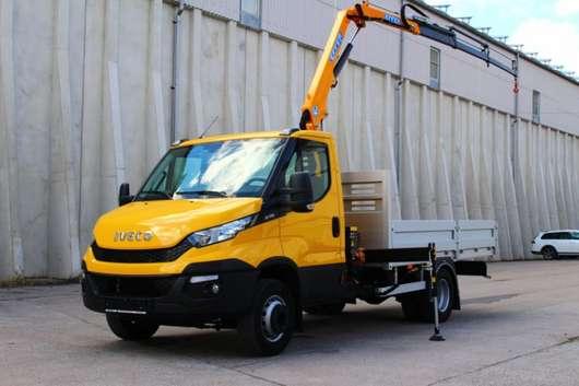 open laadbak bedrijfswagen Iveco Daily 70C17 Neu Kran Effer 35 Leasing 2016
