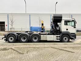 containersysteem vrachtwagen MAN TGS 35.430 8x4-4 BL met kraan en haak 2020