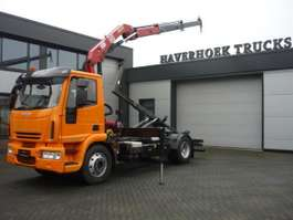 containersysteem vrachtwagen Iveco Eurocargo 120E25 Euro 5  Crane HMF 910 Meiller Hooklift 2008