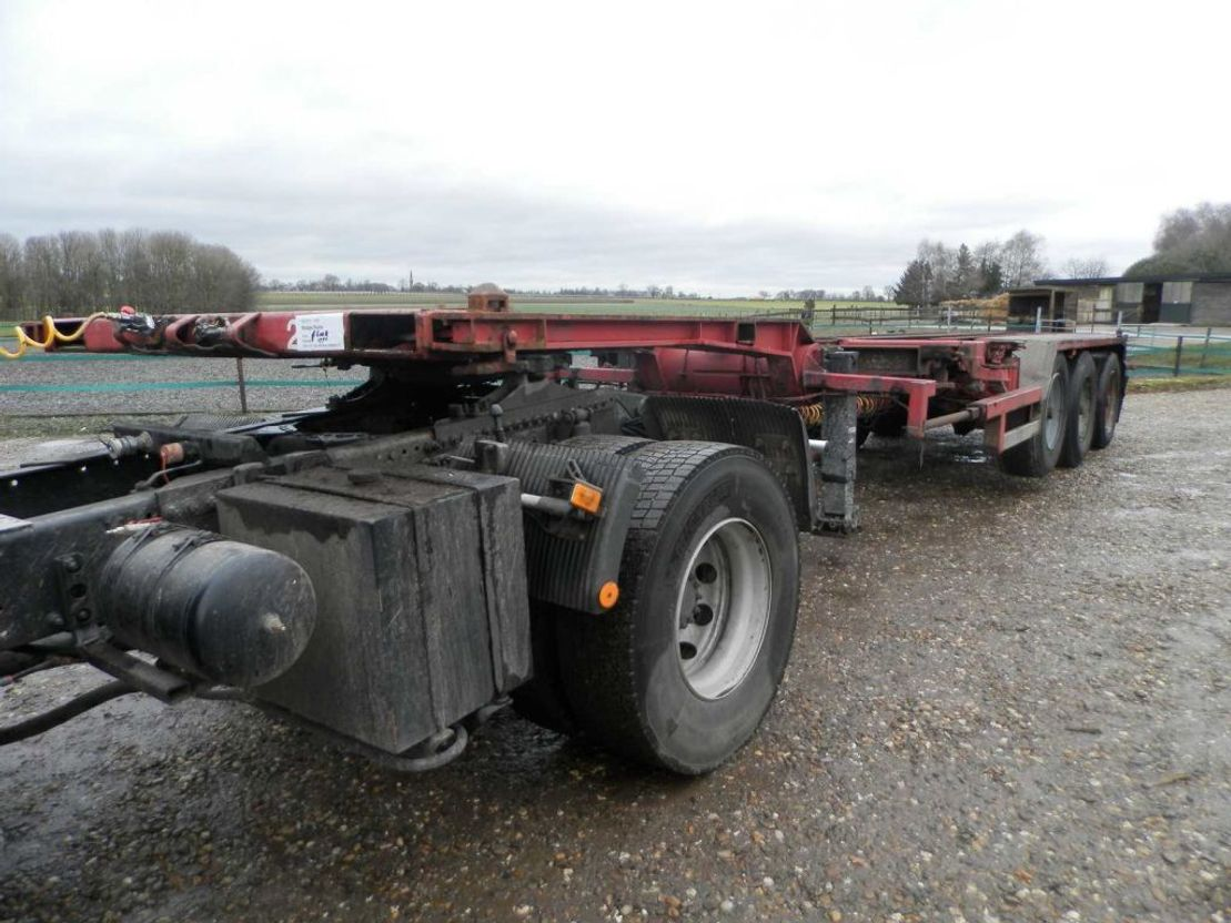 container chassis oplegger Floor 3-assige oplegger 1996