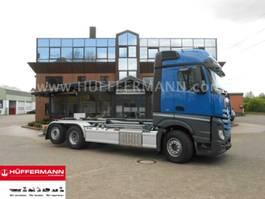 containersysteem vrachtwagen Mercedes Benz Actros 2543 6x2 Abrollkipper VDL S21-6200 2018