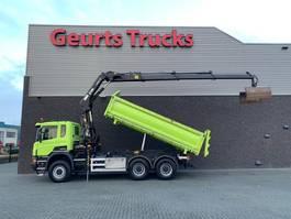 kipper vrachtwagen > 7.5 t Scania P370 6X6 KIPPER + HIAB KRAAN/KRAN/CRANE/GRUA 2015