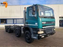 chassis cabine vrachtwagen DAF CF 85 430 8X4 (full steel) 2002