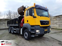 kipper vrachtwagen > 7.5 t MAN TGS 28.400 6X4-4 BL kipper met Z-kraan 2010