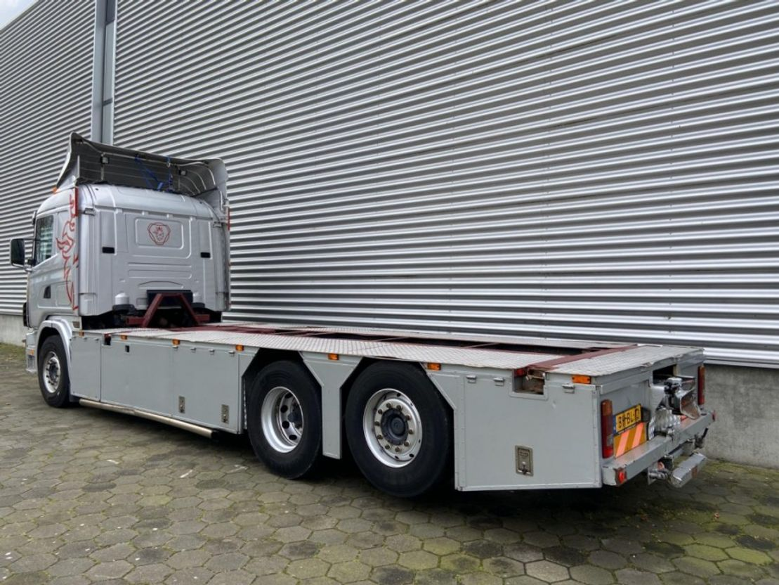 containersysteem vrachtwagen Scania R 144L-460 / 6X2 / Manual / Euro 2 / V8 / Airco / NL-Truck 1999